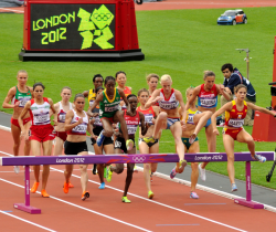 Womens 3000m Steeplechasers Take the Hurdle